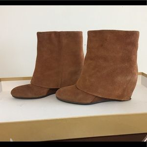 French Connection Brown Suede Ankle Boots 9.5